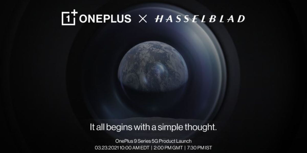 OnePlus makes official the date of the OnePlus 9 and the partnership with Hasselblad