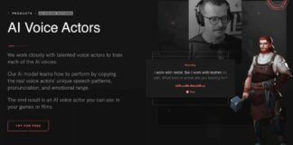 Replica app offer AI voices for games and videos