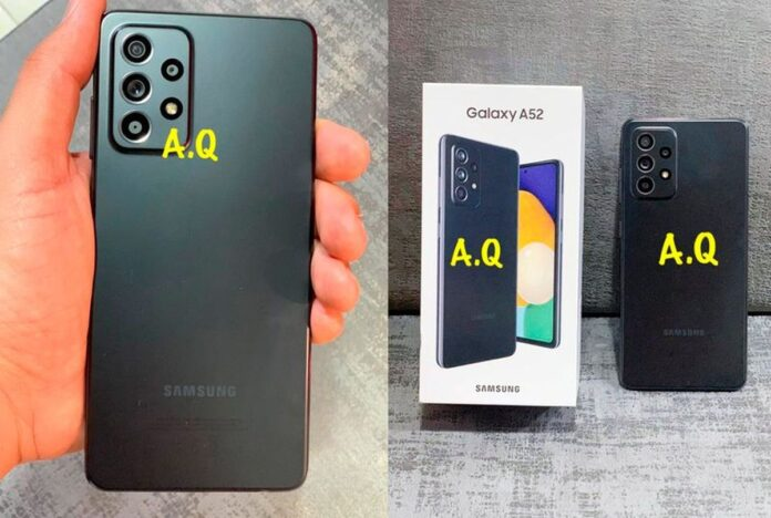 Samsung Galaxy A52 appears in real photos