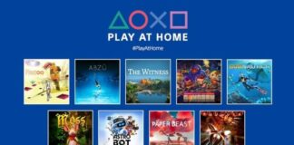 Sony is giving away 10 great games under the name of Play at Home