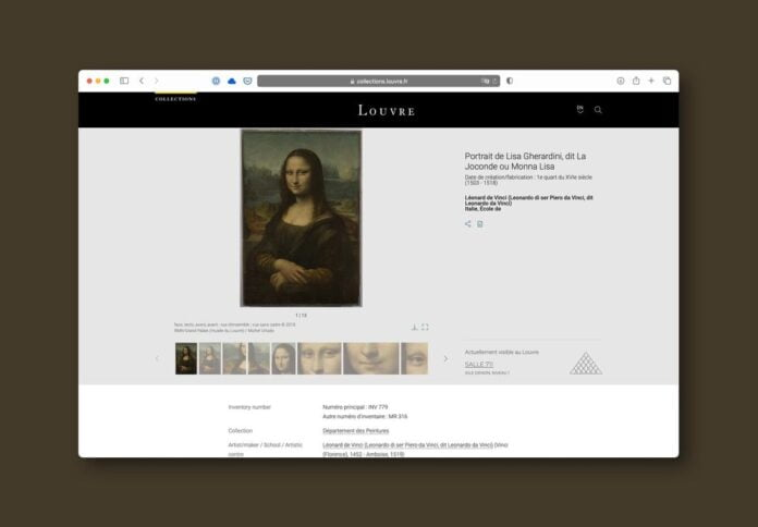The Louvre makes its complete catalog available to everyone free of charge: 482,000 works of art online that can now be visited.
