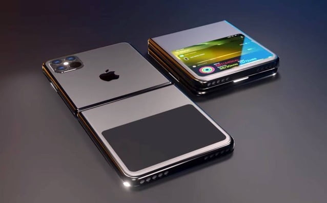 A YouTuber shows how a foldable iPhone would look like using a flexible AMOLED screen