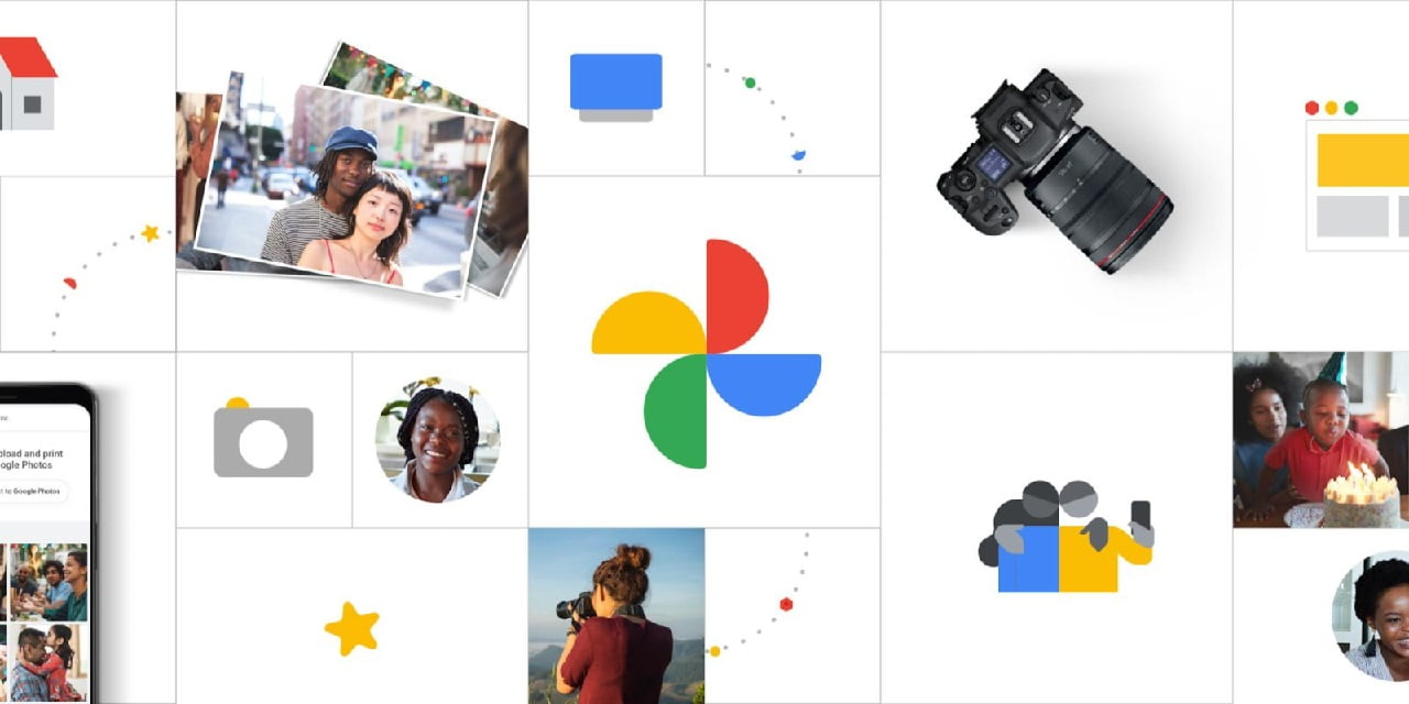 How to use the timeline feature of Google Photos to see images on a map?