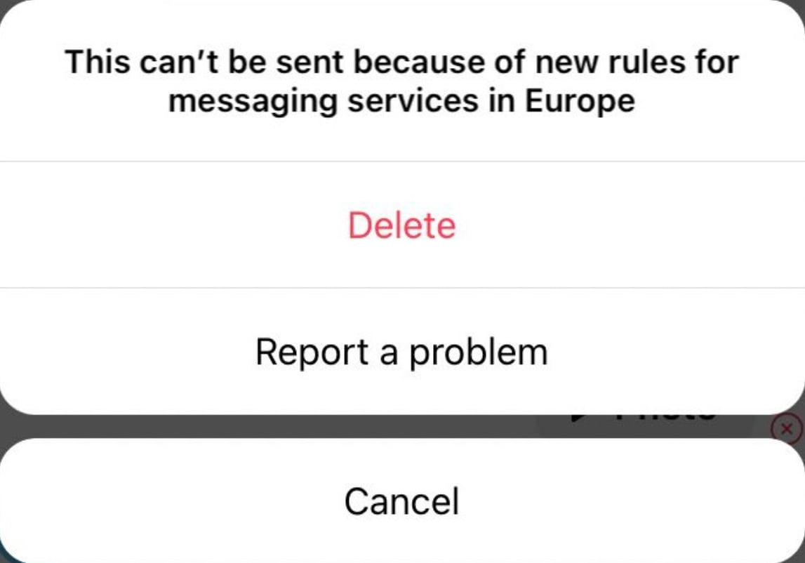 Instagram removes disappearing photos and videos in Europe due to regulations