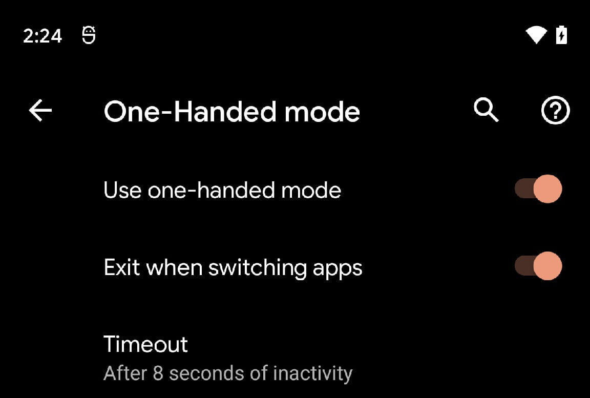 How to activate the one-handed mode on Android 12?