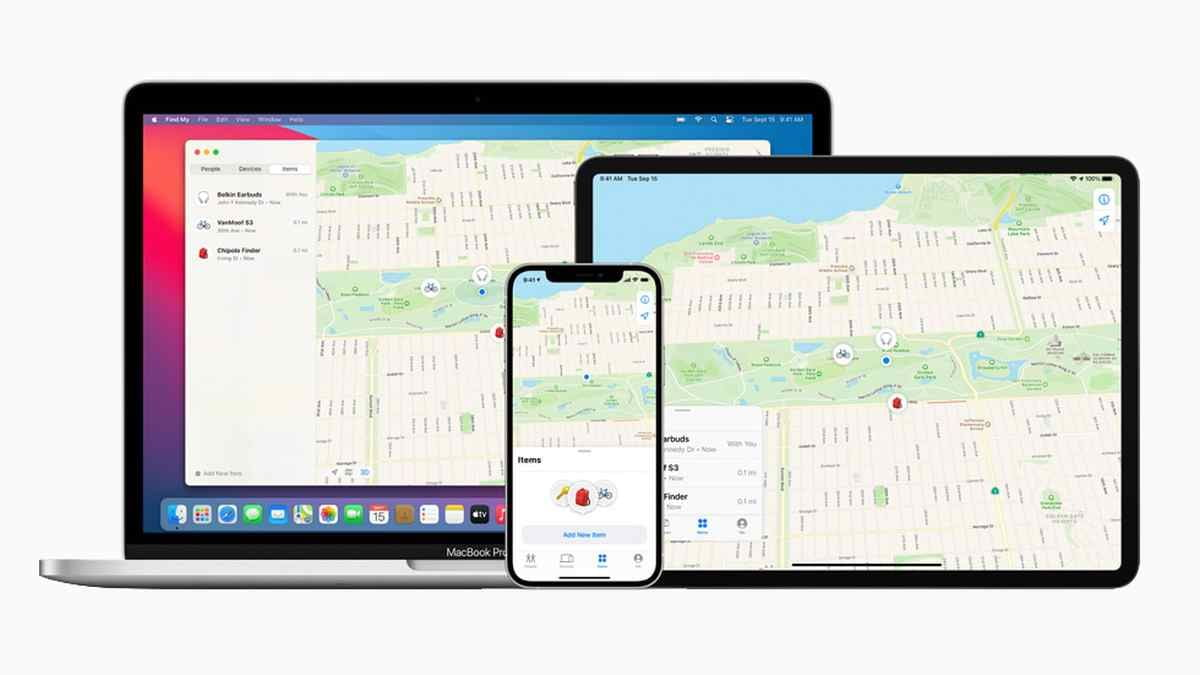 Apple opens its Find My app to the localization of third-party products