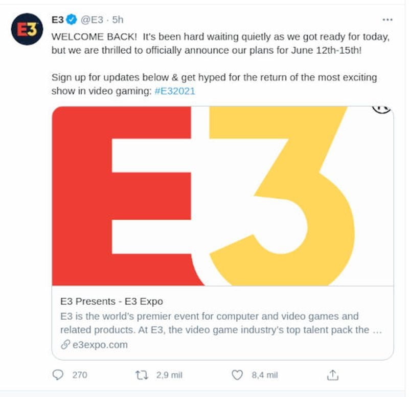 E3 2021 digital is confirmed with Xbox and Nintendo support: These are the dates