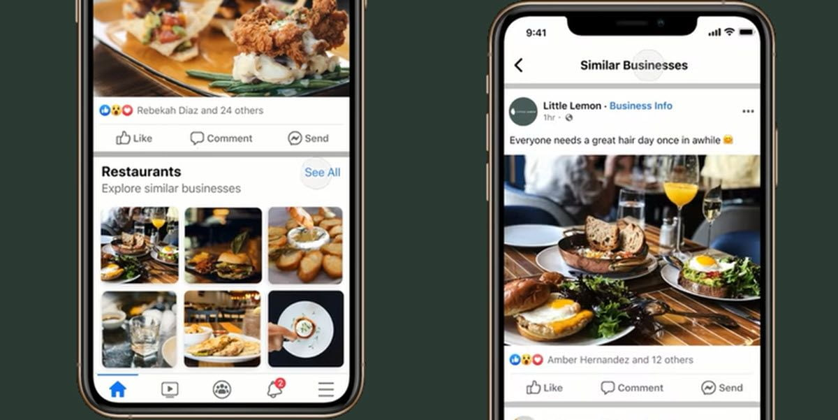 Facebook is testing business recommendations in the news feed