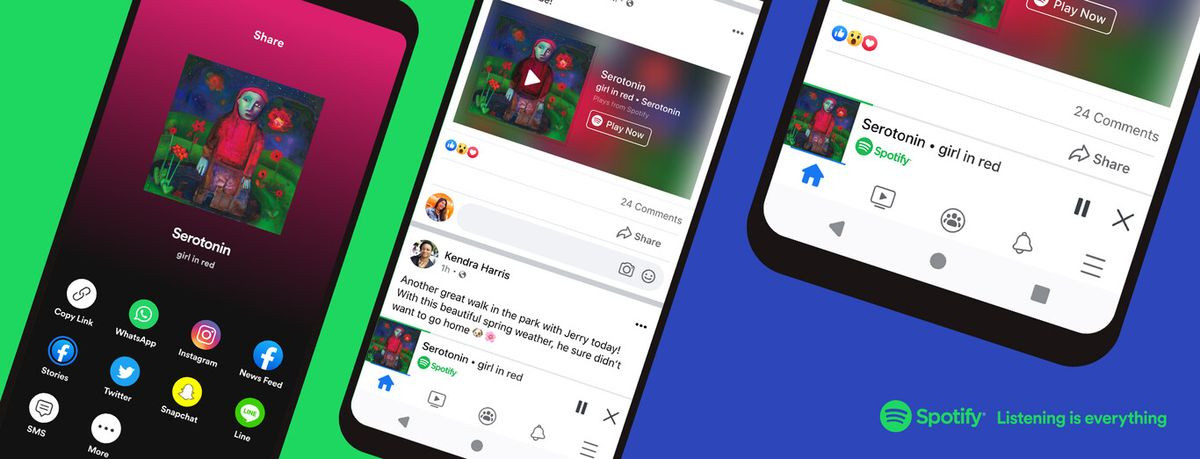 Facebook launches an integrated Spotify mini player Now it is possible to listen to music without leaving the social network