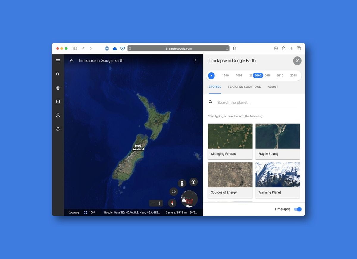 Google Earth adds Timelapse: A feature to see how the planet has changed over nearly 4 decades