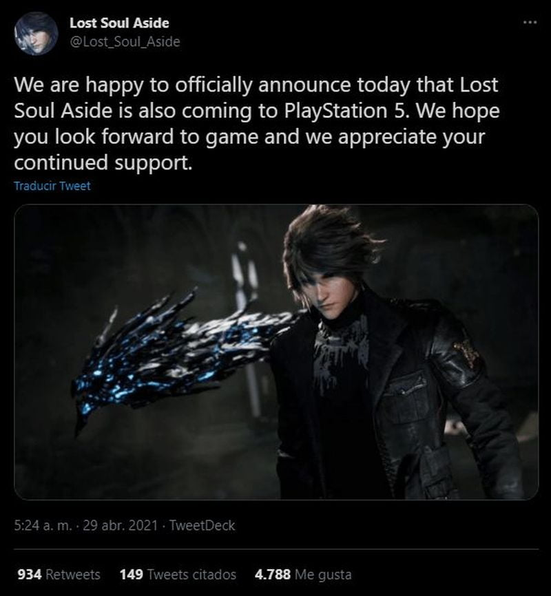 Lost Soul Aside confirms version for PlayStation 5