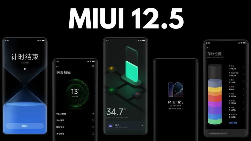 MIUI 12.5 starts shipping to 6 more Xiaomi phones