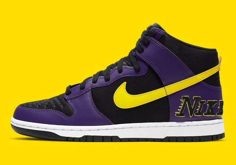 Nike Lakers Dunk High reviving with 80's logo