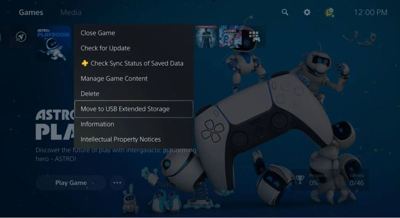 PlayStation 5 now allows games to be stored on a USB device