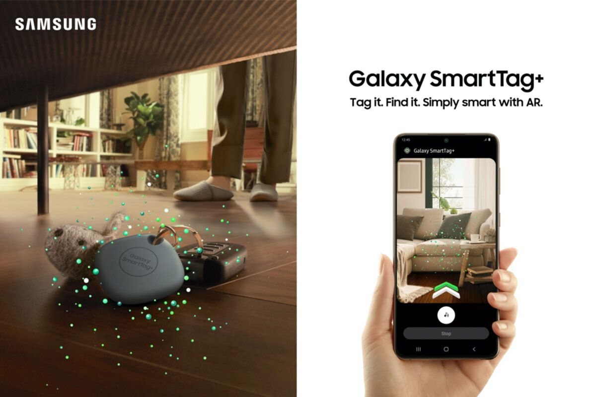 Samsung Galaxy SmartTag+ uses augmented reality to show you where you lost your keys