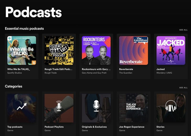Spotify continues to invest in podcasting with new playlists