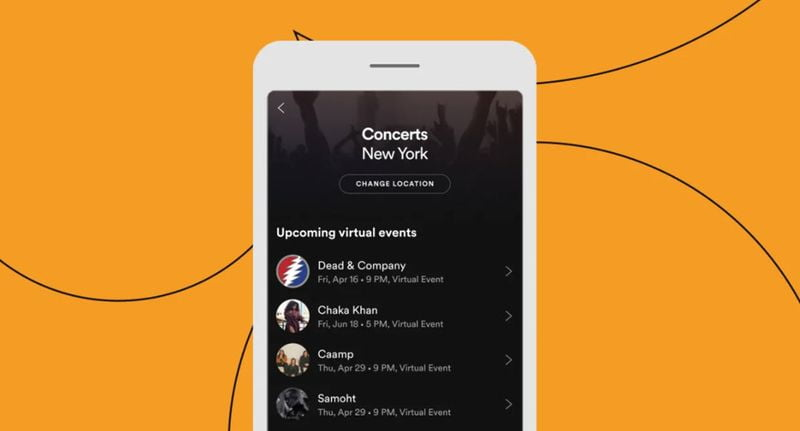 Spotify makes it easy to keep up with artists' virtual events