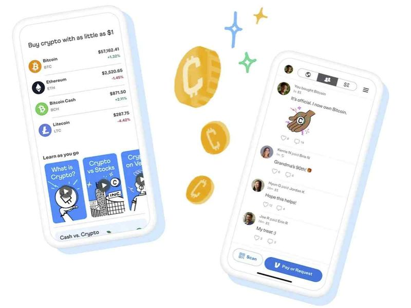 Venmo, Paypal's subsidiary, also begins to allow the use of cryptocurrencies