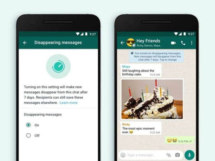 WhatsApp: New details on disappearing messages
