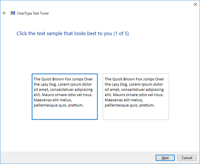 How to activate ClearType feature for better looking fonts on Windows 10?