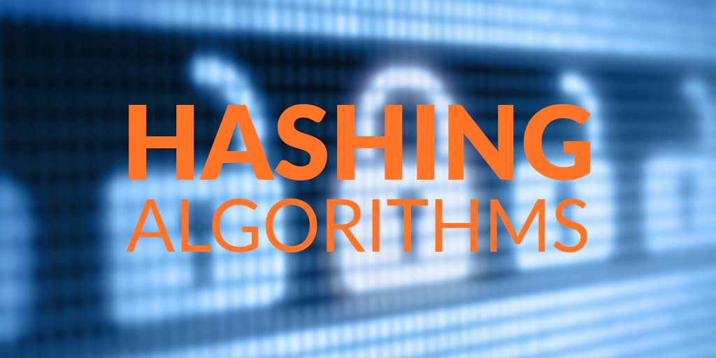 What are hashing algorithms and what are they used for?