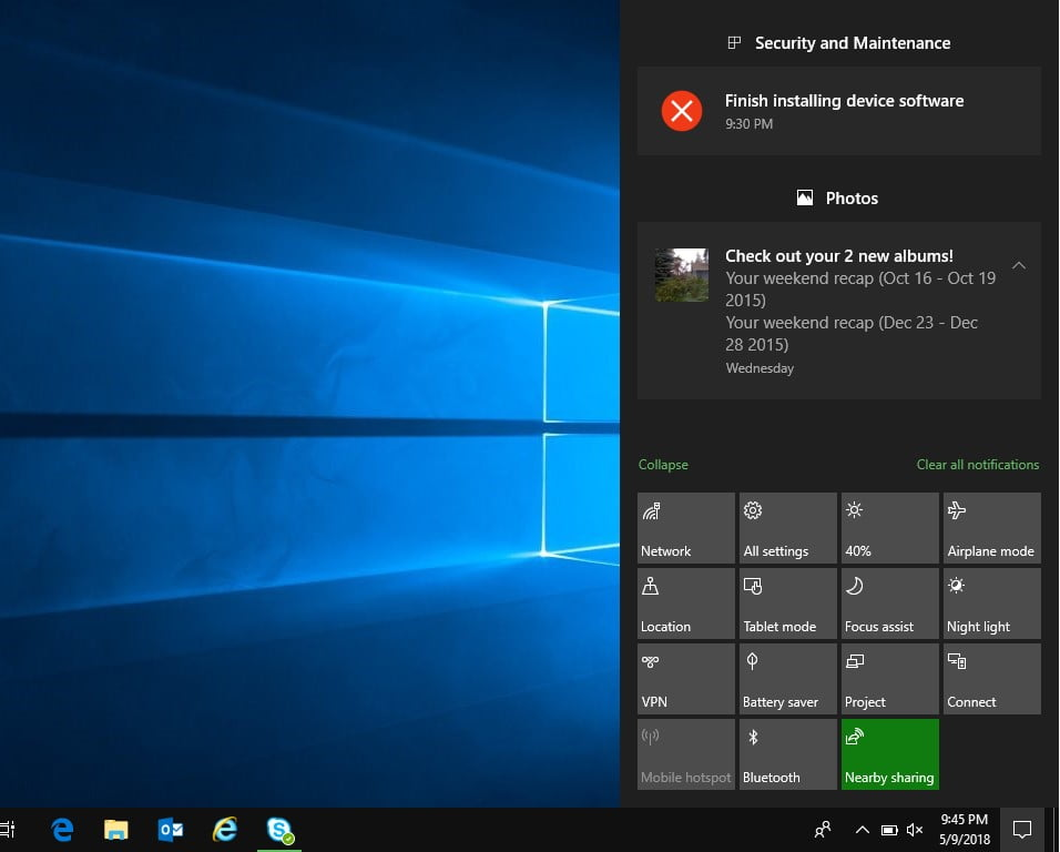 How to disable the Windows 10 notification center?