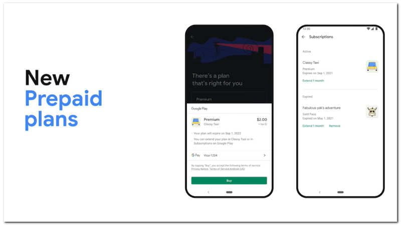 Google Play will have a system of prepaid plans for premium apps