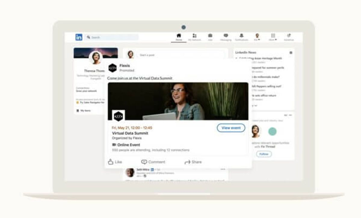 LinkedIn adds new options to promote online events