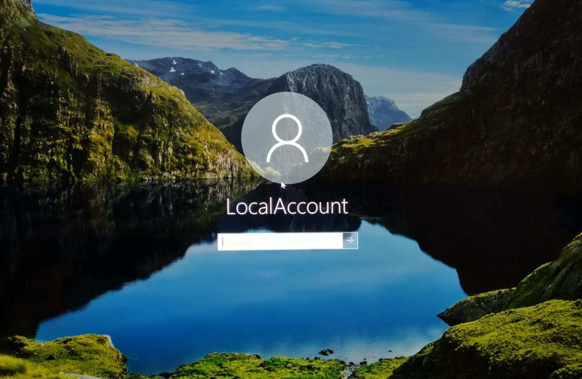 How to create a password reset disk for a local account in Windows 10?