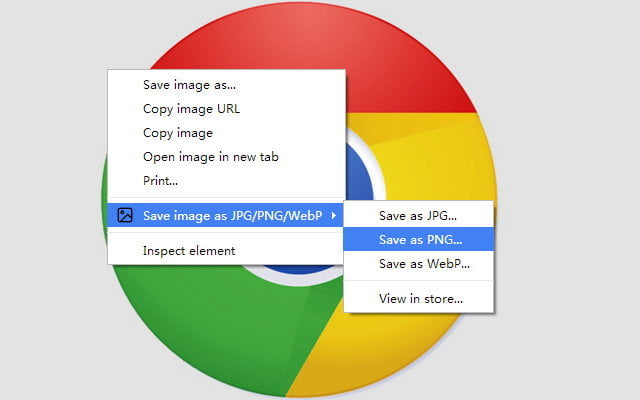 How to save images and convert them to JPG, PNG or WebP on Chrome or Edge?