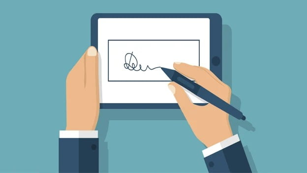 How to sign documents using a smartphone without printing?