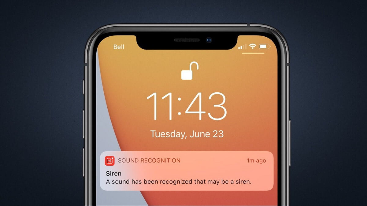 How to activate the sound recognition feature on an iPhone?