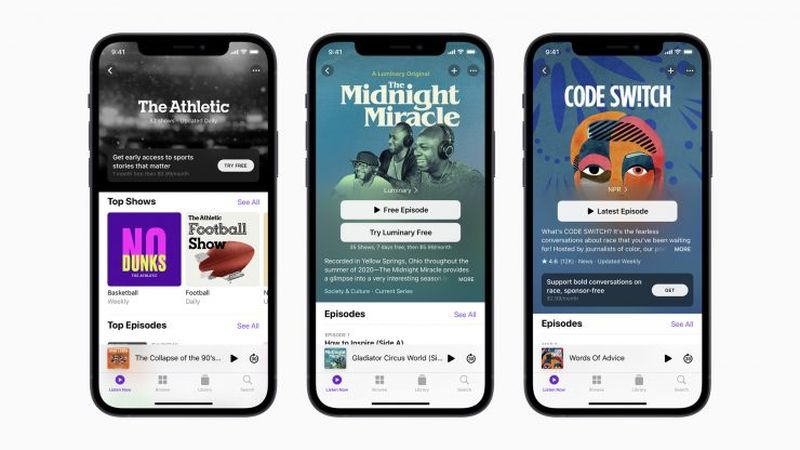 Apple officially launches its podcast subscription channels