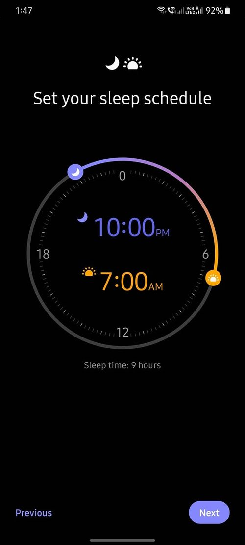 How to set the bedtime mode in Samsung?