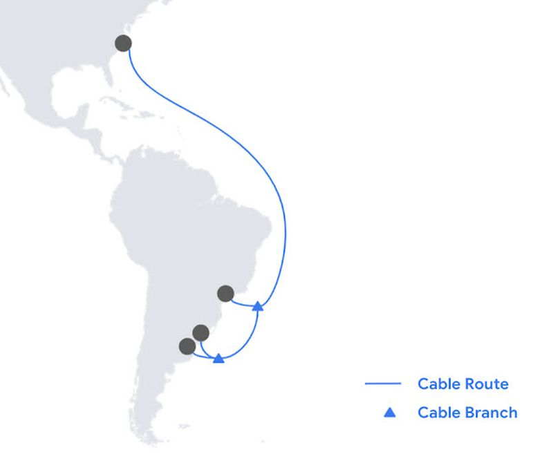 Google's new submarine cable Firmina to link the United States with Argentina
