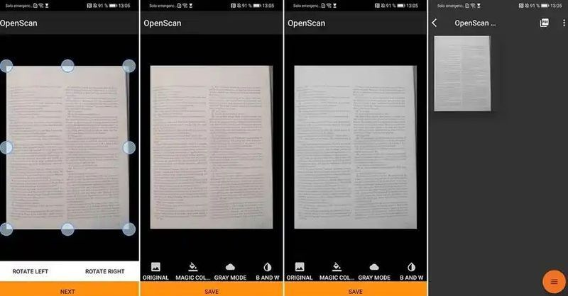 OpenScan: An open-source document scanner for Android