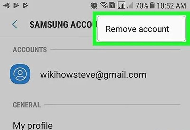 How to delete your Samsung account from your mobile even if you don't remember it?