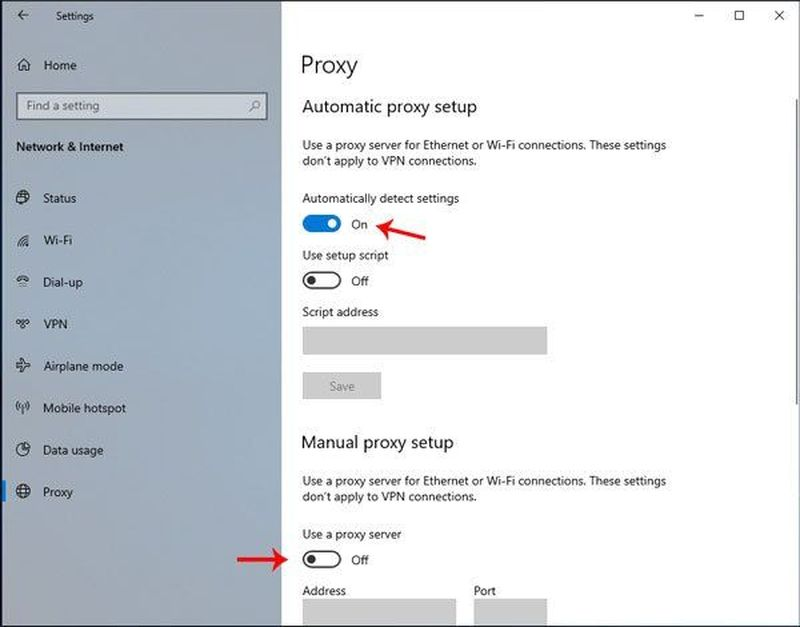 'Windows was unable to automatically detect the network proxy settings': How to fix the error?