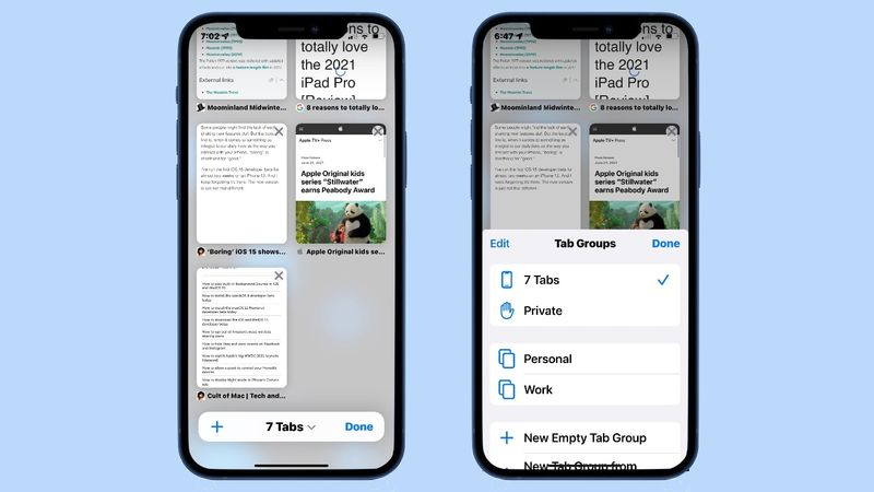 Safari tab groups in iOS 15, how we can manage hundreds of tabs with ease?