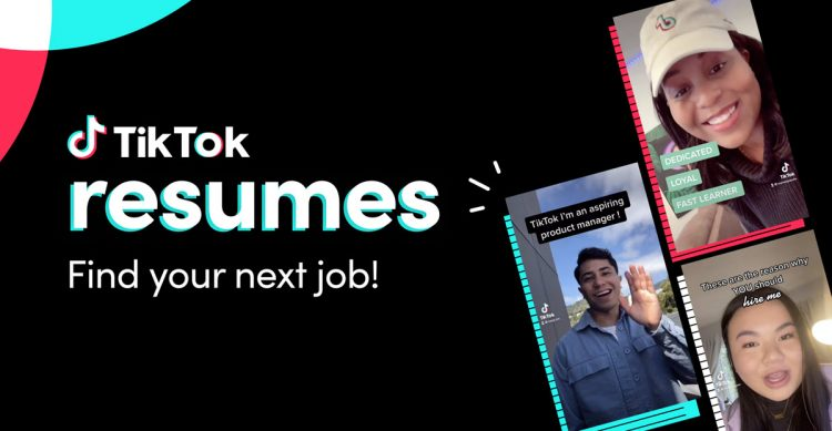 TikTok allows users to create video CVs to apply for jobs