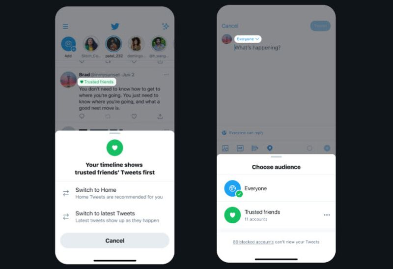 Twitter could give you the option to tweet only to your friends or specific groups