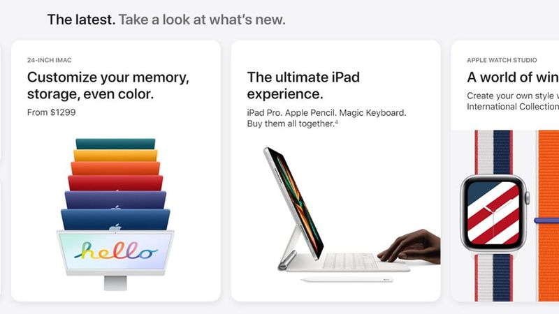 Apple redesigns and highlights its online store on the web