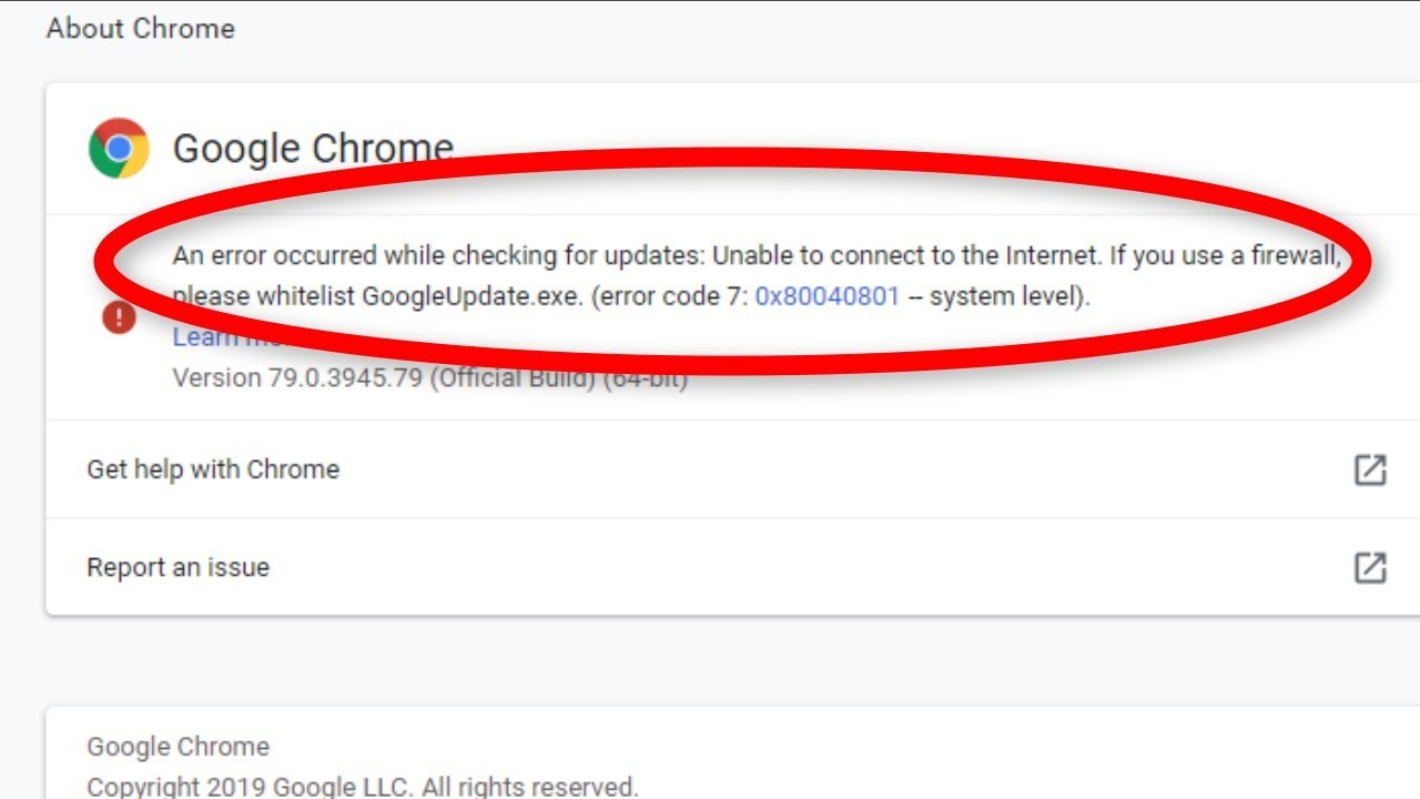 Avoid Google Chrome Error Code 7: 0x80040801 with these simple steps