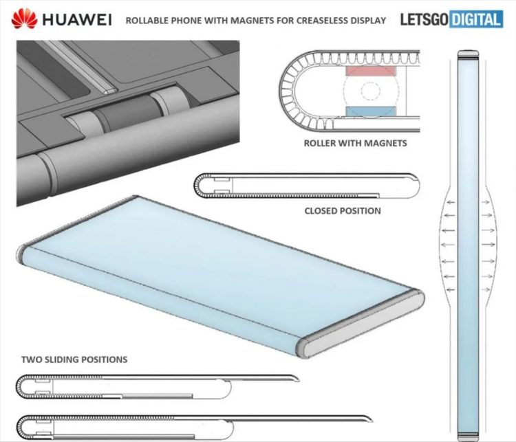 Huawei prepares a rollable phone according to a patent