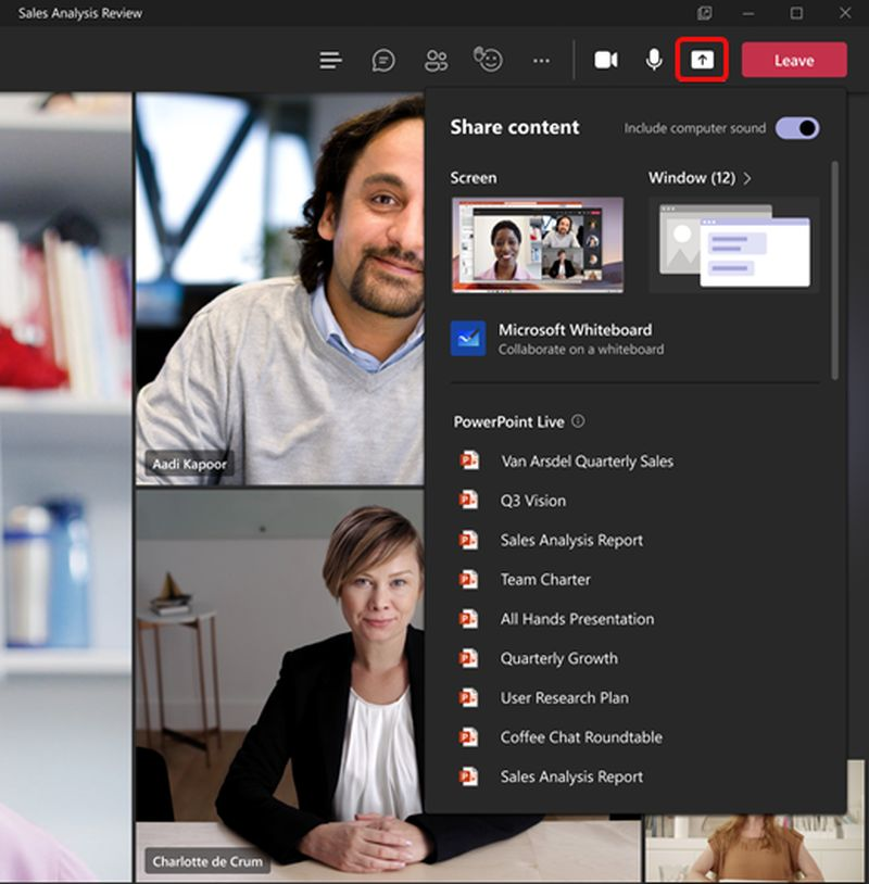 Microsoft Teams will have a new feature to share content in presentations