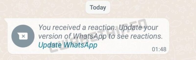 WhatsApp will allow replying to messages with reactions