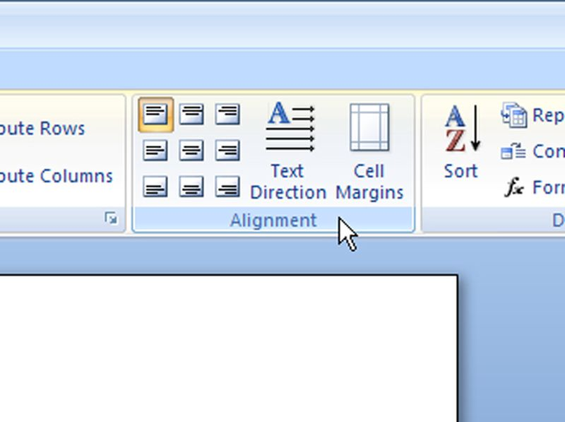 How to center text vertically and horizontally in Word 2007?