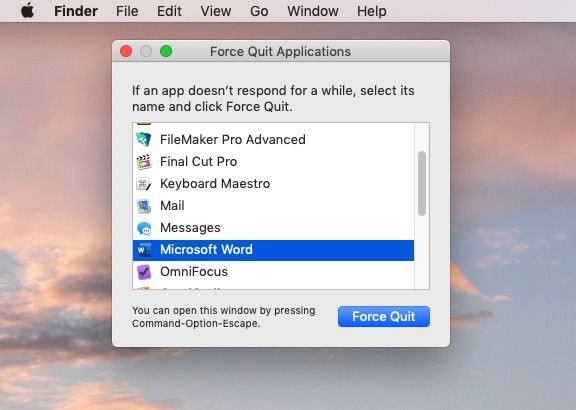 How to force quit on Mac?