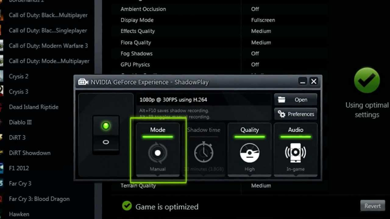 How to record your PC gameplay with NVIDIA ShadowPlay?