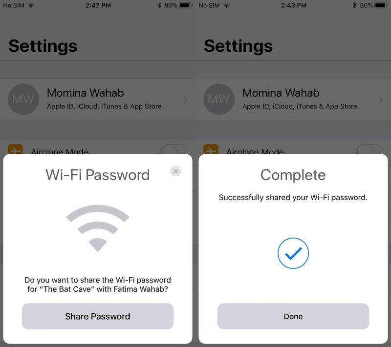 How to share your WiFi password on your iPhone: Sharing wireless network passwords